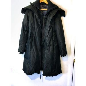BGBG MaxAzria-Full Body-Double Zipper Down Coat